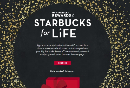 Starbucks For Life Contest