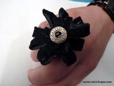 anillo hecho con vaquero