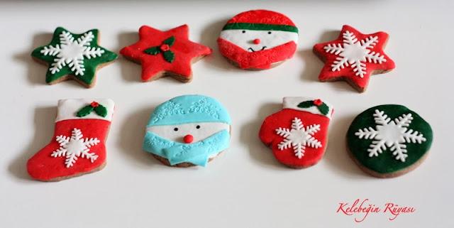 yılbalı temalı kurabiye
