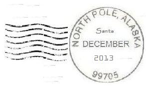 2013 North Pole Postmark