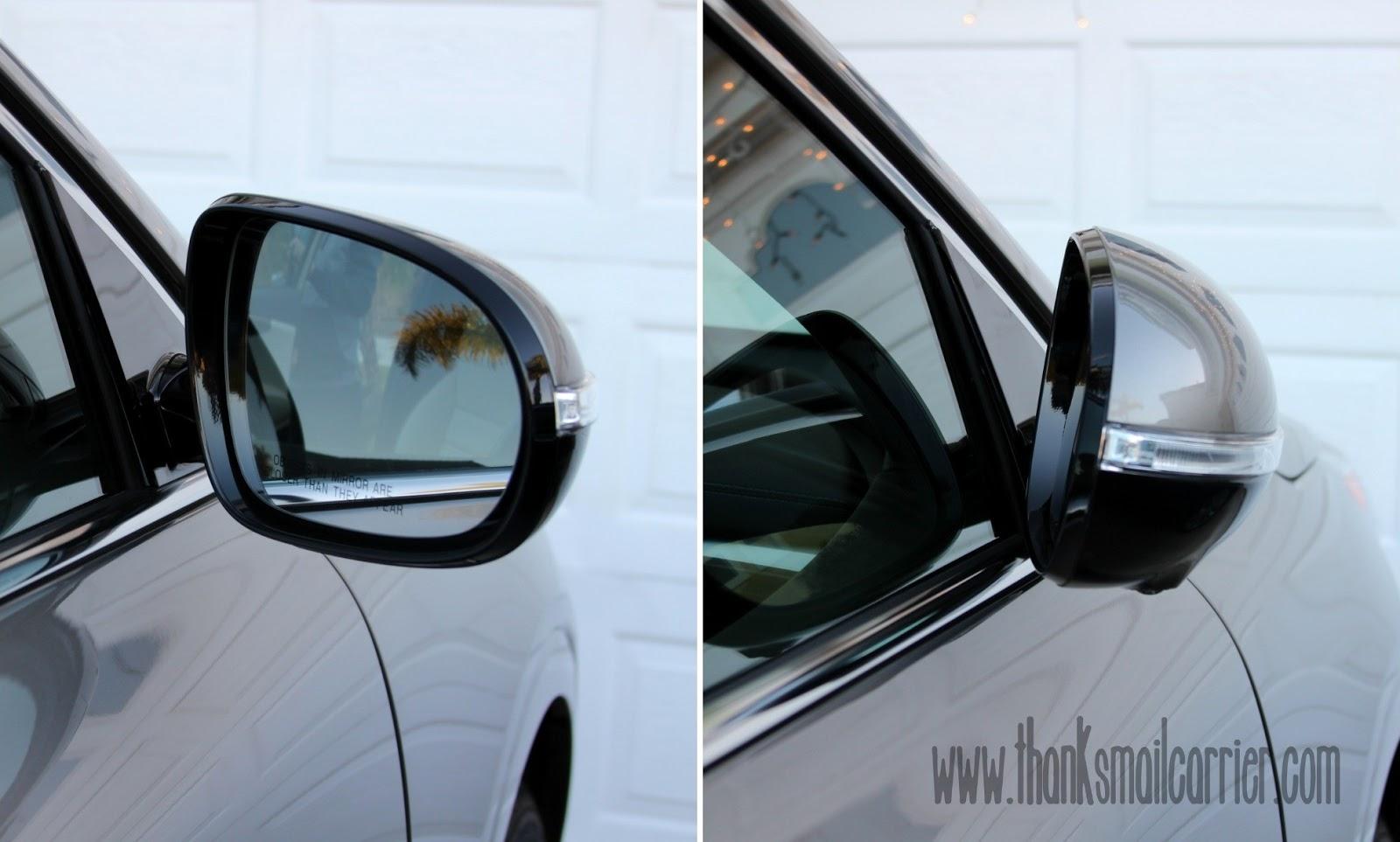 folding side mirror