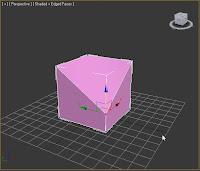 Caja convertida en editable poly en 3ds max