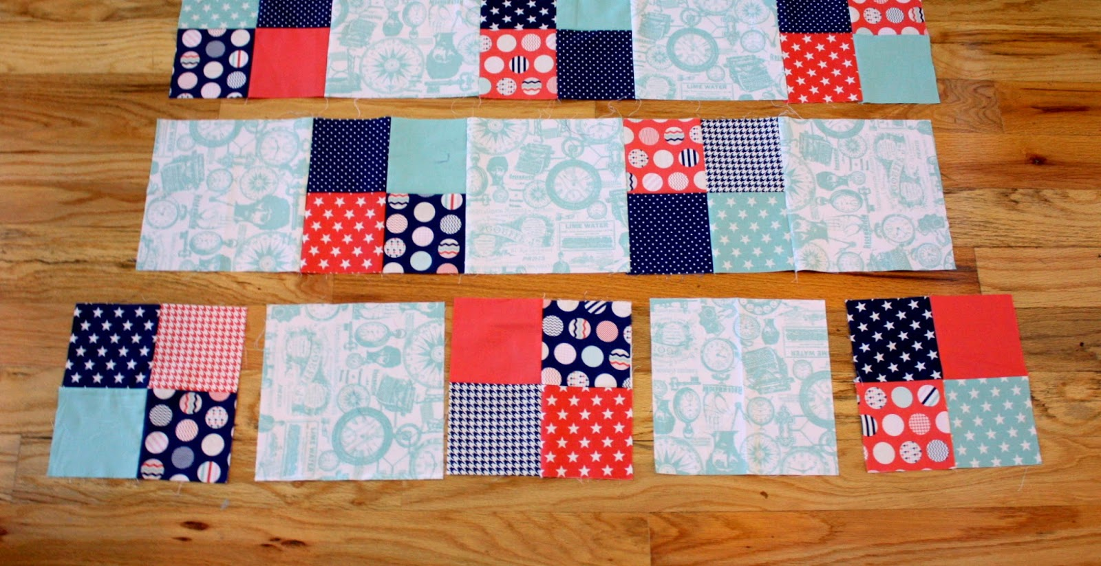Free Quilt Patterns Square Blocks : Fast Four-Patch Quilt Tutorial - Diary of a Quilter - a quilt blog