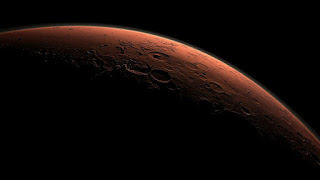 Desde la órbita de Marte