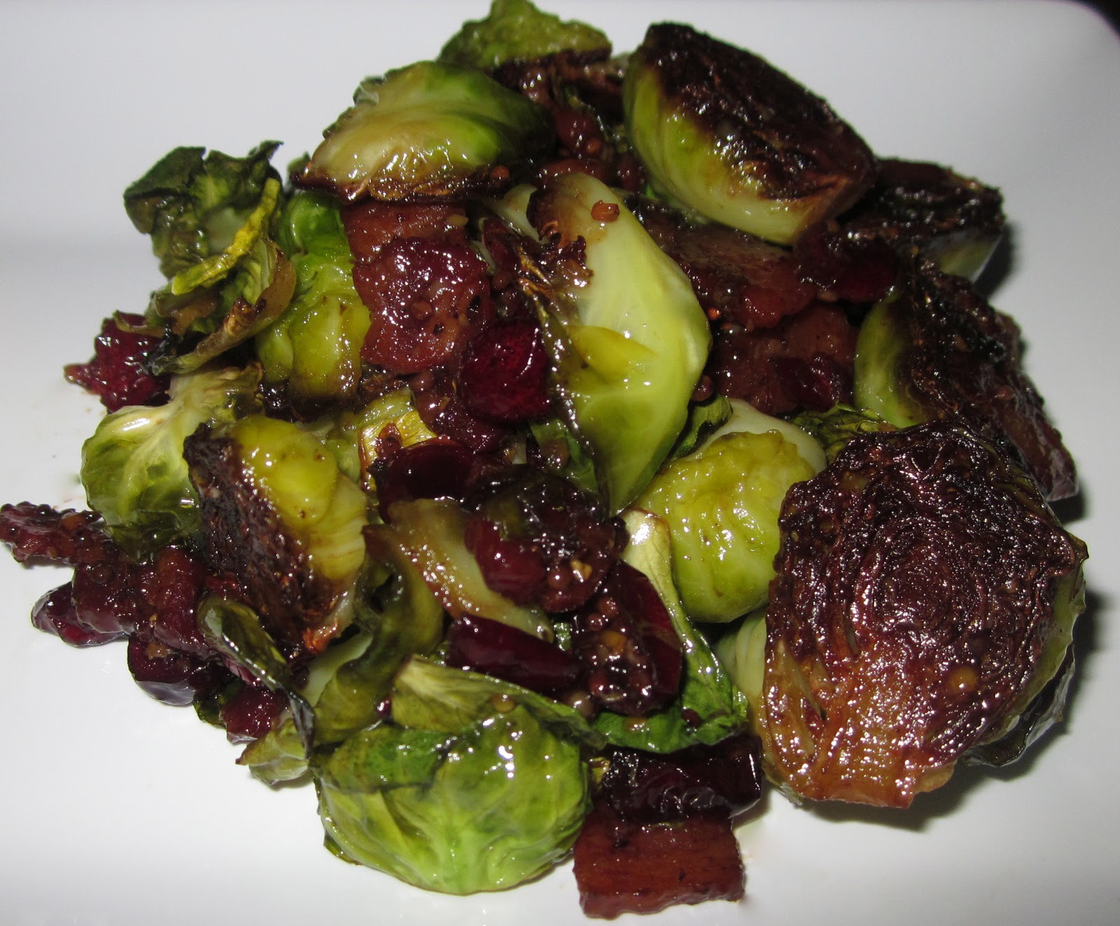 Haute + Heirloom: Pan Fried Brussel Sprouts Tossed in a Maple-Mustard ...