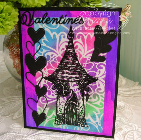 Lavinia neon card for valentine's front