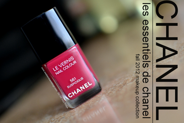 Les Essentiels de Chanel Le Vernis Suspicious Nail Polish Makeup Collection Fall 2012 Beauty Blog Swatches NOTD Review