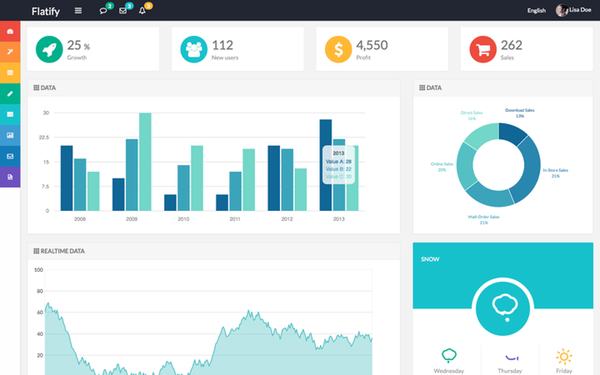 lastest - bootstrap themes and templates: flatify - responsive admin