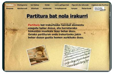 PARTITURA  BAT NOLA IRAKURRI