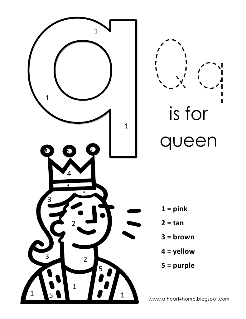 q coloring pages for preschool - photo #45