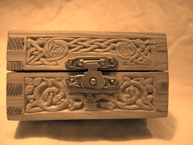 Wooden Box Carving Celtic Knotwork