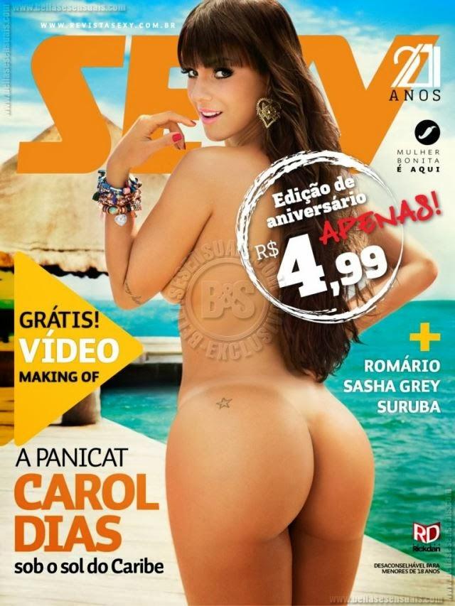 Veja Fotos Da Panicat Carol Dias Pelada Na Revista Sey De Novembro