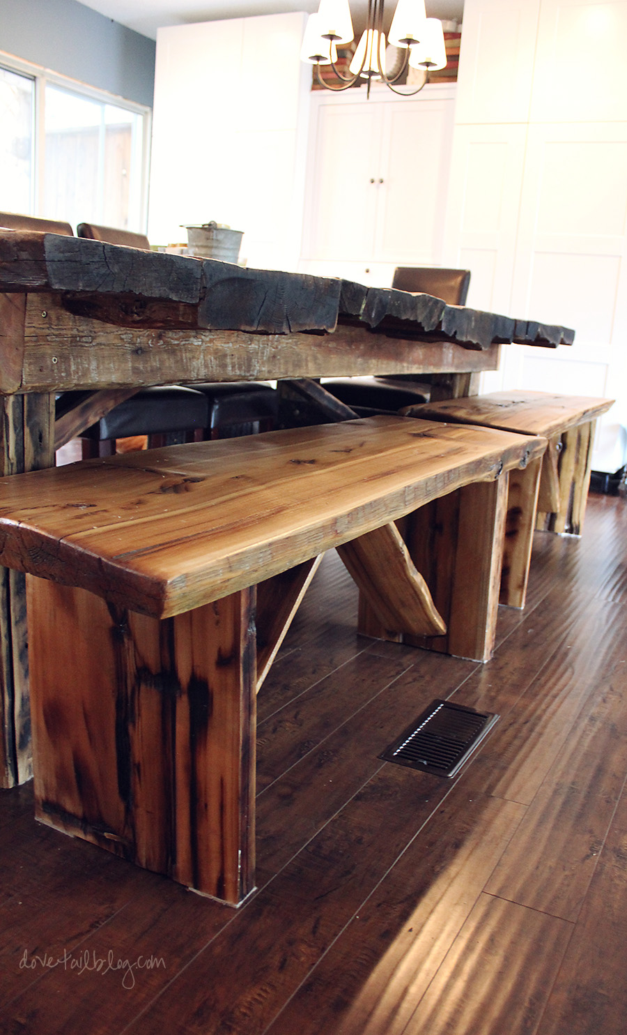 Home Made Kitchen Table Homemade Reclaimed Wood Dining Table Benches Simple On Purpose