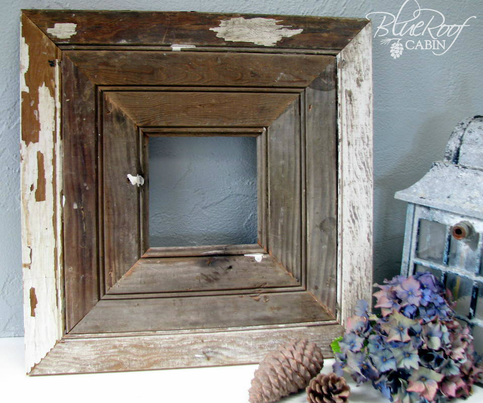 Blue Roof Cabin Weathered Beadboard Frames
