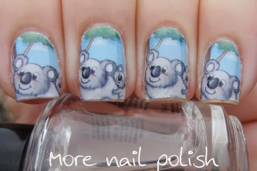 23 australia day nail art ideas more nail polish 11 koalas prinsesfo Gallery