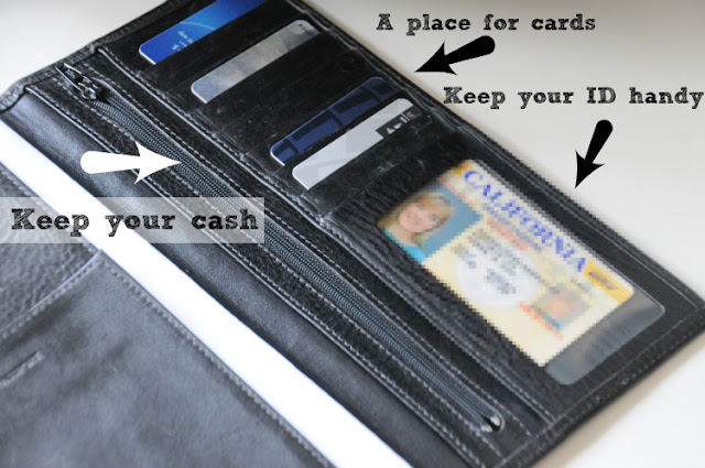 Travel wallet for keeping your important things during a trip | OrganizingMadeFun.com