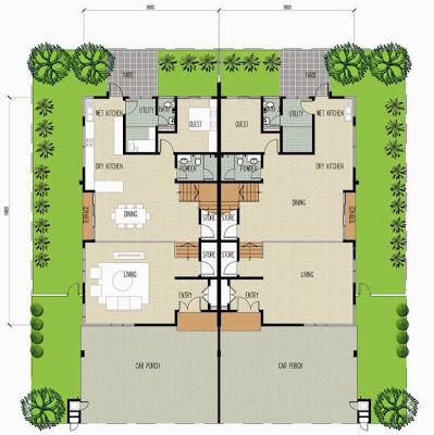 Floor Plan Feng Shui Clover Garden Residence 2