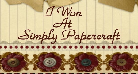 I won - Simply Papercraft.