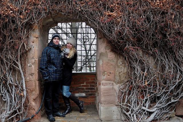 nádvoří u Norimberského hradu // courtyard by Nuremberg Castle