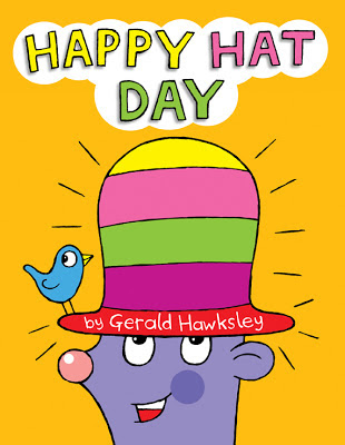 Cover illustration for paperback version of Happy Hat Day