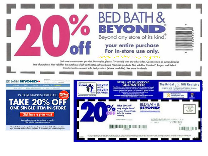 Bed Bath And Beyond Online Coupon July