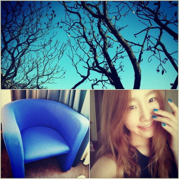 Taeyeon SNSD Loves Blue