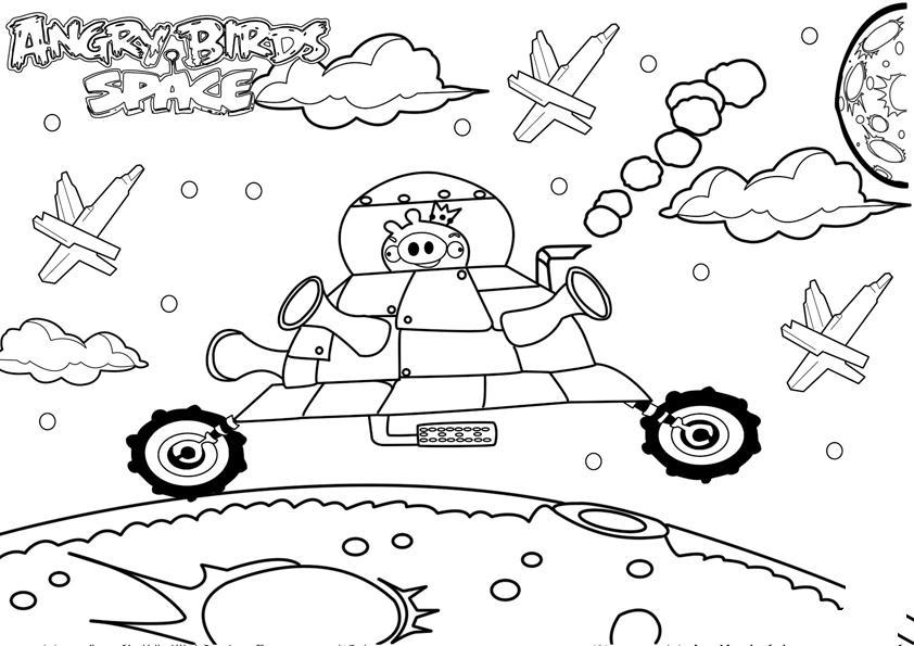 COLOREA TUS DIBUJOS: Dibujo de Angry Birds Space para Colorear y Pintar