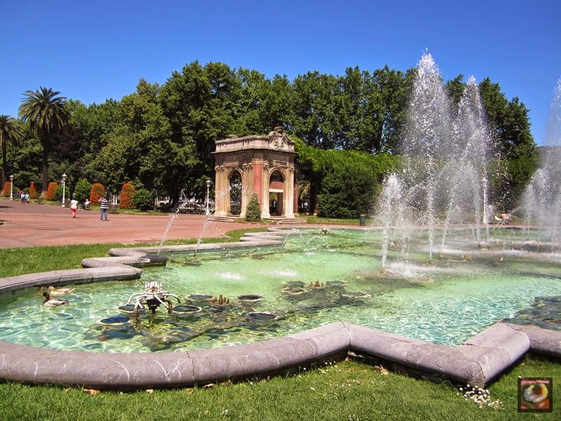 Fuente Cibernética del Parque de Doña Casilda Iturrizar en Bilbao (Bizkaia)