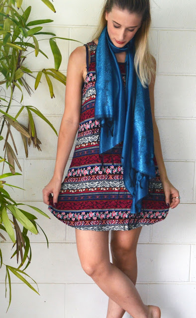 bohemian dress scarf