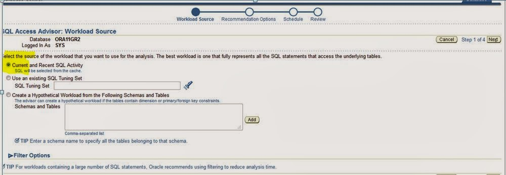 how to run sql tuning advisor in oracle 11g