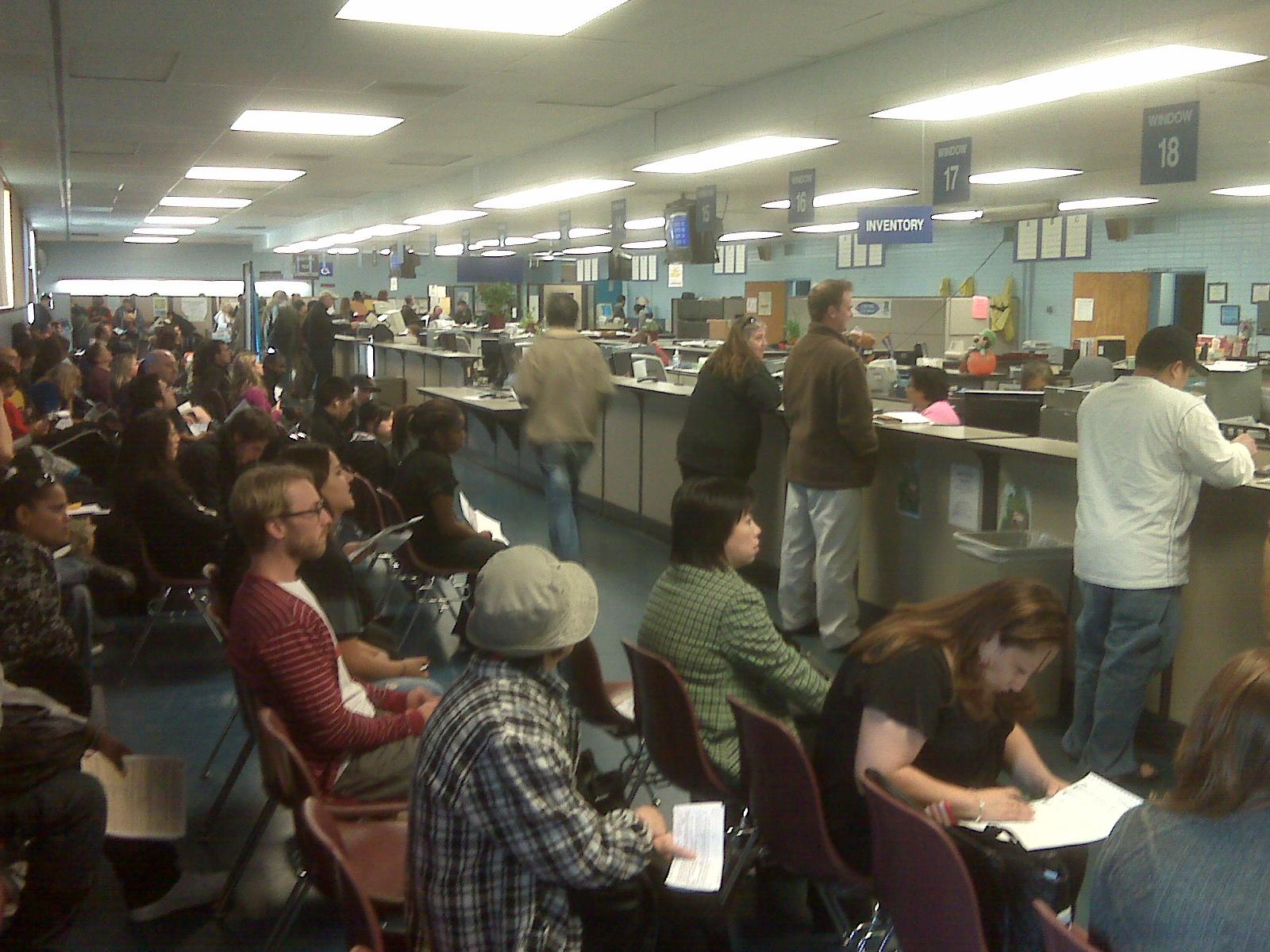 Larainy Days: Wastin' Away Again Inside the DMV