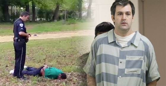 Killer Cop Michael Slager standing over his victim and later as a prisoner.