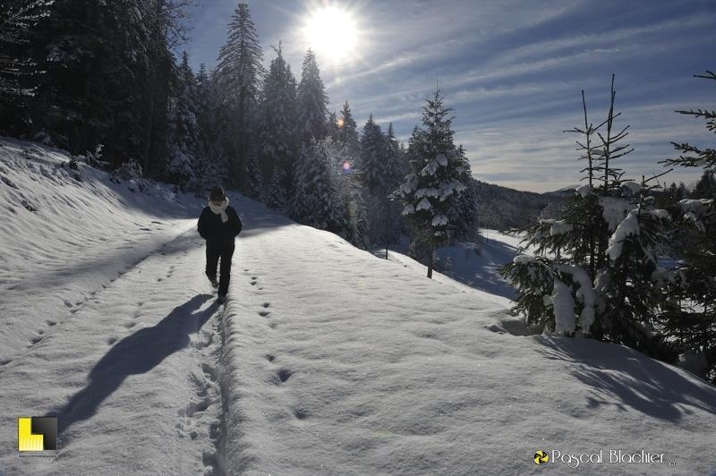 valérie blachier en randonnée sur le vercors hivers 2013 photo blachier pascal