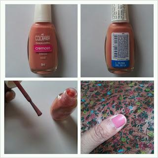 Colorama cremoso nail polish nude swatch