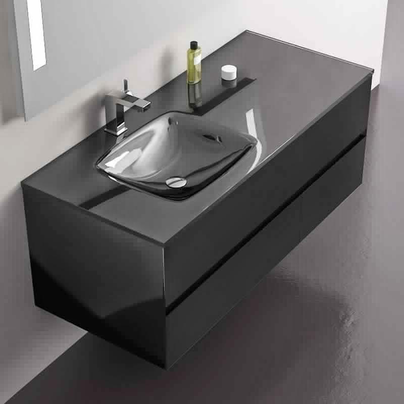 meuble salle de bain noir mat table de lit. Black Bedroom Furniture Sets. Home Design Ideas