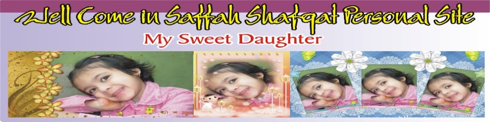 Well Come in Saffah Shafqat Personal Site
