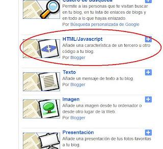Crear una web. Como insertar Wigets HTML | Un servicio de mundohandball.com
