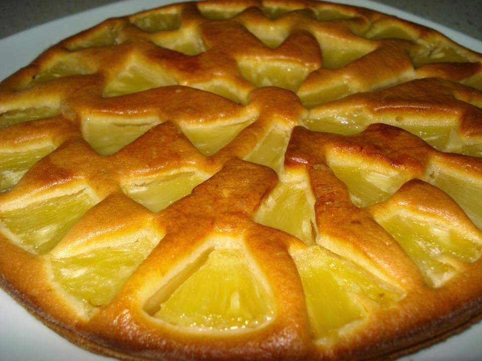 Recette du gâteau à l'ananas