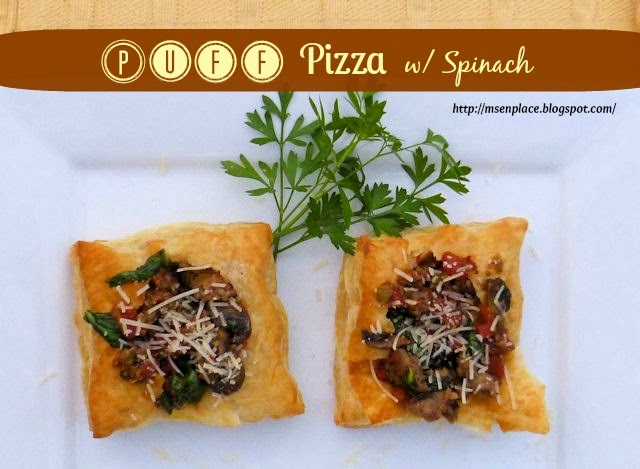 Puff Pizza with Spinach | Ms. enPlace