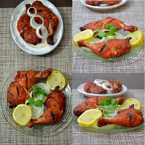 Divyas culinary journey tandoori chicken recipe tandoori murgh tandoori chicken recipe tandoori murgh in oven oven roasted chicken tandoori forumfinder Image collections