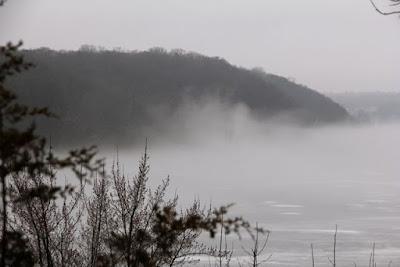 late Autumn fog, St. Croix River