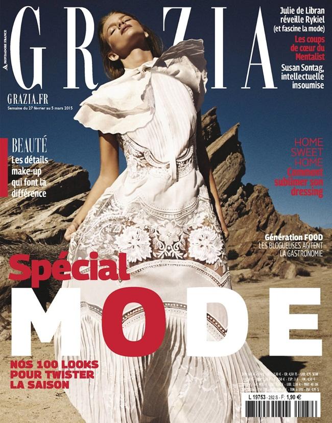 Roberto Cavalli Spring 2015 White Embroidered Silk-Georgette Maxi Dress Editorials