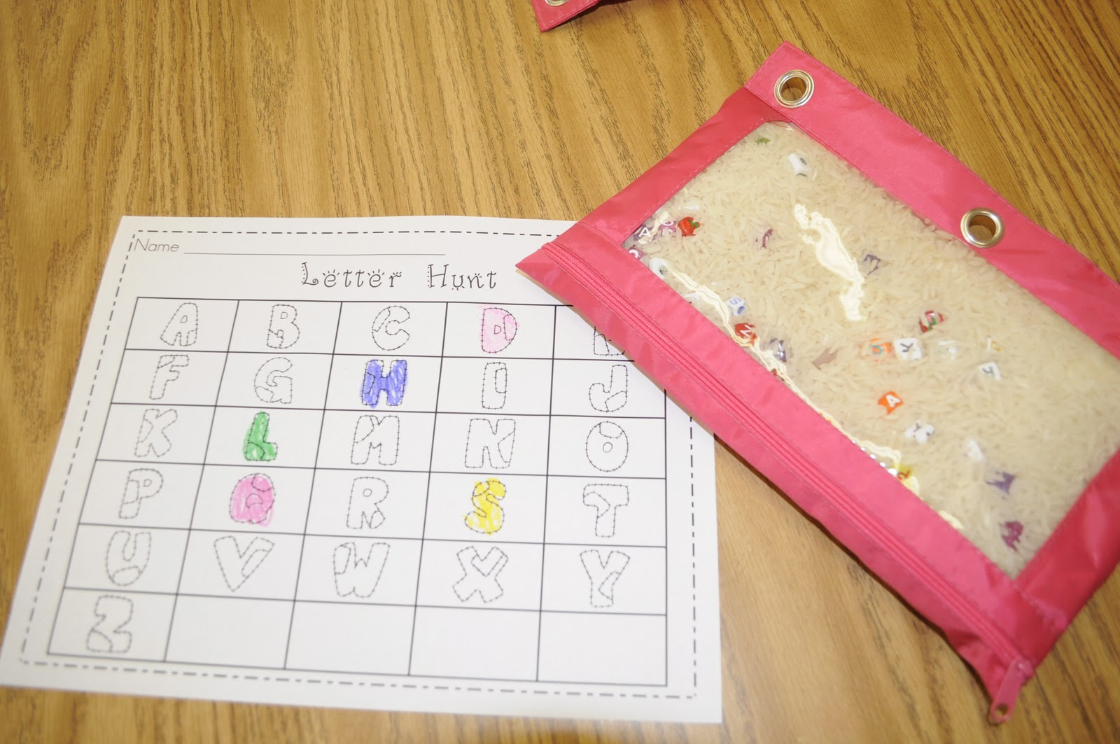 Letter writing service activities for kindergarten