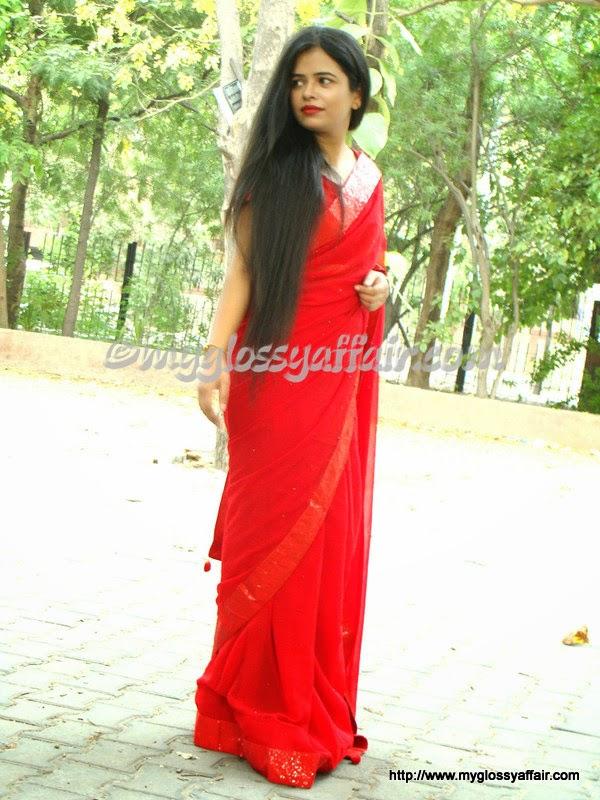 bollywood replica red saree