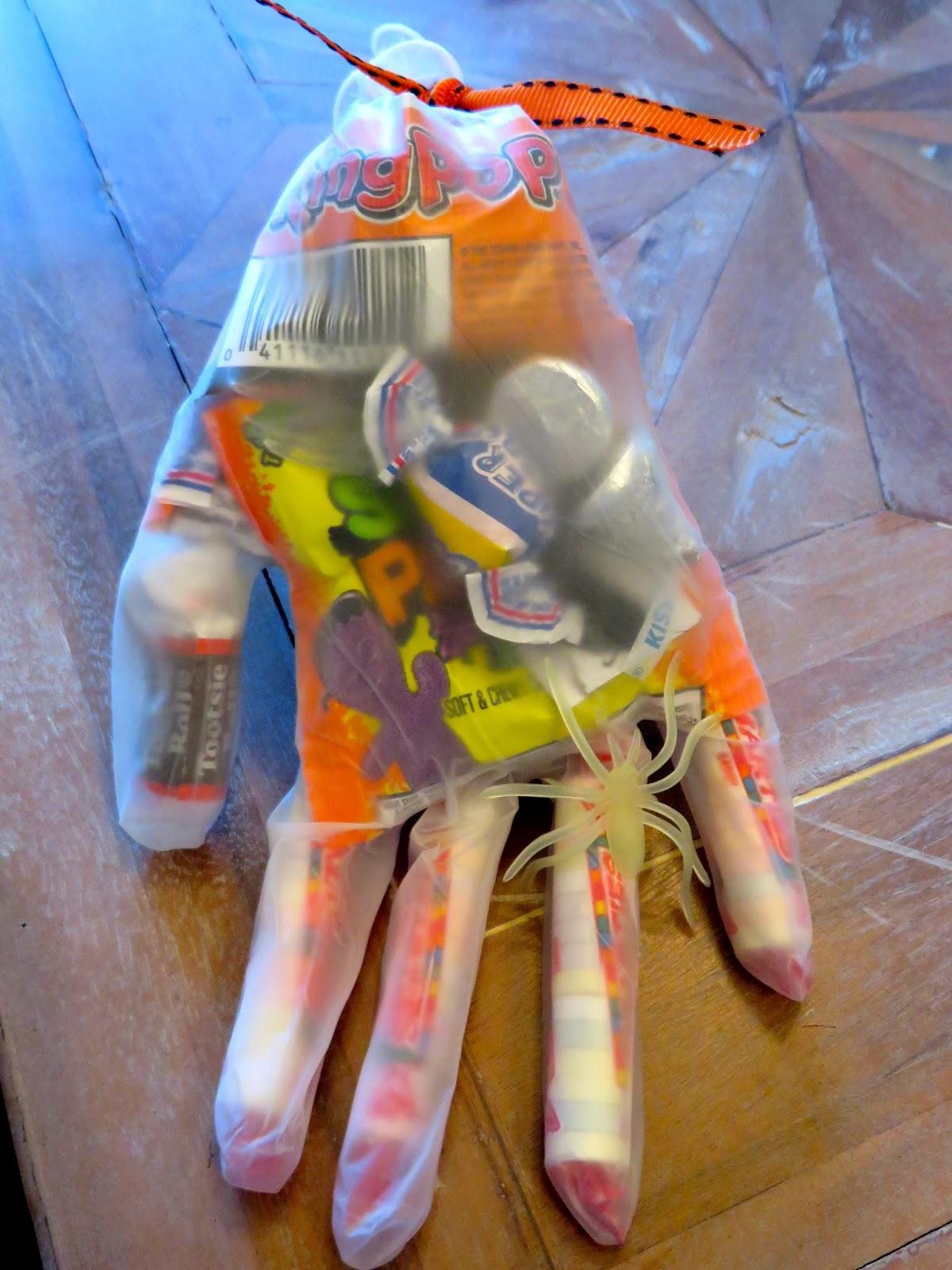 the wooden spoon diaries: halloween hand goodie bags