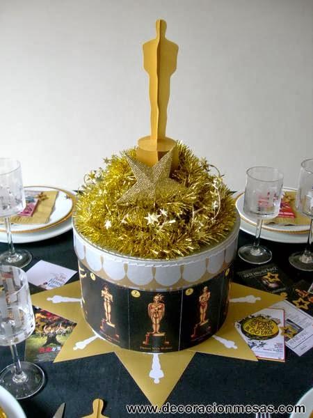 decoracion de mesa cine centro mesa Oscar