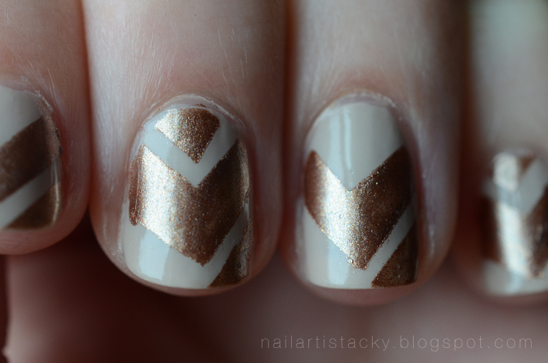 Tribal Chevron Nail Art - Butter London The Old Bill - Nail Polish