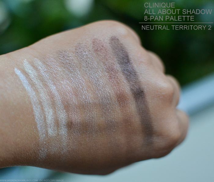 Clinique All About Shadow 8-Pan Neutral Eyeshadow Palettes- Neutral Territory2 - Swatches