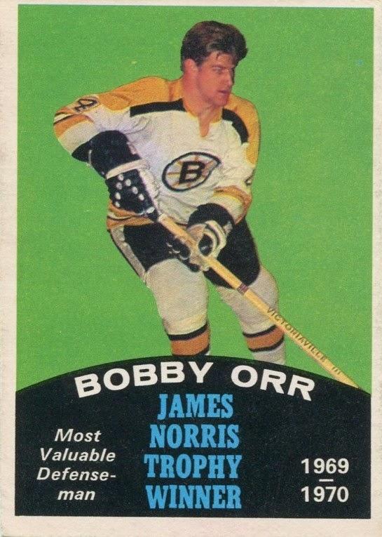 bobby orr 1970-71 o-pee-chee norris trophy hockey card