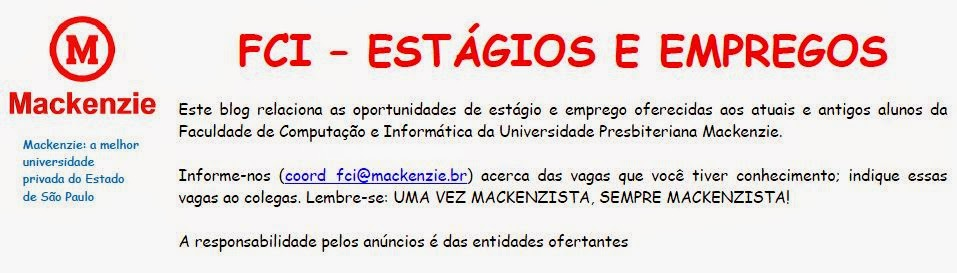 FCI MACK                                          - Estágios e Empregos